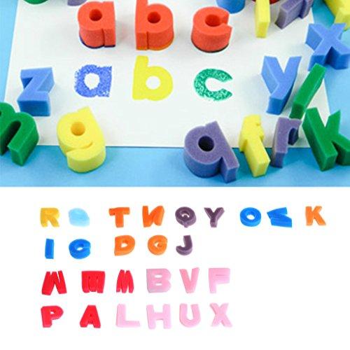 Kangnice Alphabet Shaped Sponge 26 Letter Set Children Kids Craft Painting Toy Education