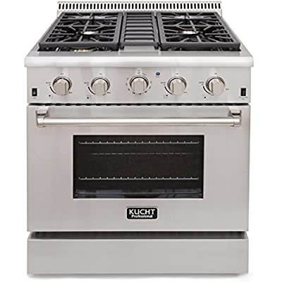 Click for Kucht KRG3080U Professional 4.2 cu. ft. Natural Gas Range with Sealed Burners and Convection Oven, 30