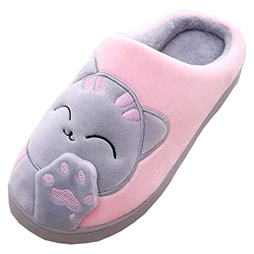 c75c61eef315 MOFEEDOUKA Women Men Plush Cute House Slippers Lucky Cat Warm Winter Indoor  Home Slippers (5