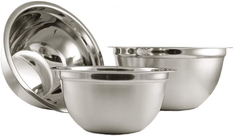 Ybmhome Deep Professional Stainless Steel Mixing Bowls (Set of 4) for Baking, Cooking, and Prepping, Stackable Nesting Bowls for Space Saving Storage, 1169-70-71-73set