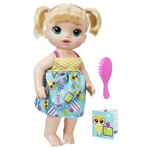 Baby Alive Ready For School Baby Doll Blonde Ages 3 And