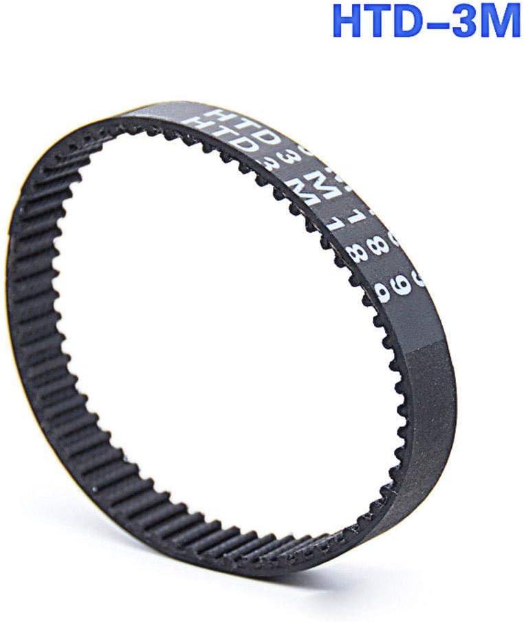 HTD 3M-459, 15mm width HTD3M 459 Close Loop Black Timing Belt Synchronous Belt Pitch 3mm Width 15mm