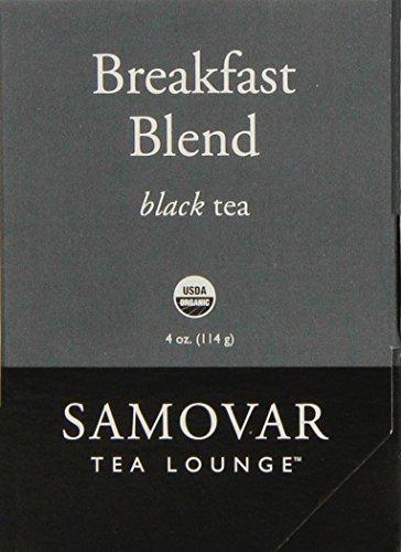 Samovar Tea Lounge Organic Black Tea, Breakfast Blend, 4 Ounce