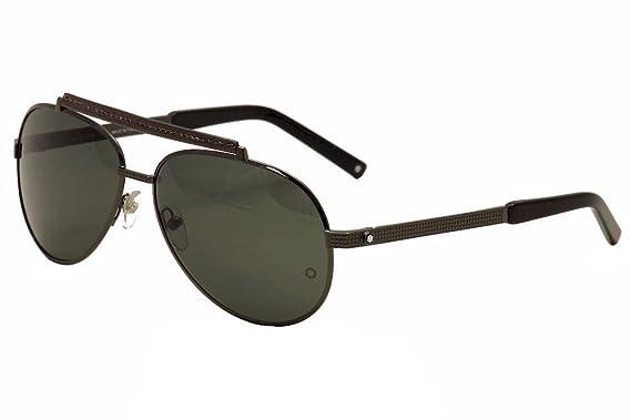 5b2ff3592e120 Amazon.com  Mont Blanc Men s MB454S08N Sunglasses