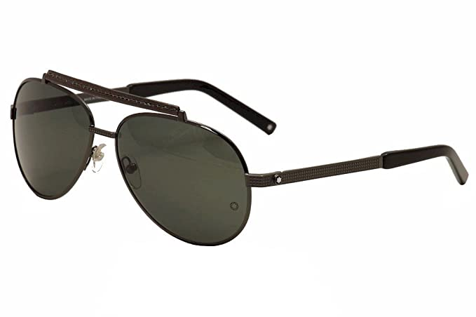 Amazon.com: Montblanc de los hombres mb454s metal anteojos ...