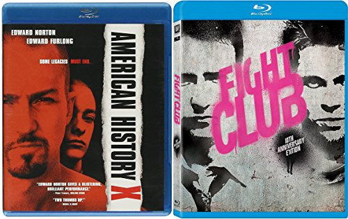 American History X & Fight Club [Blu-ray] Bundle Ed Norton Double feature Set