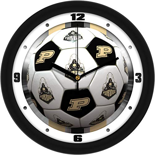 (SunTime Purdue Boilermakers-Soccer Wall Clock)