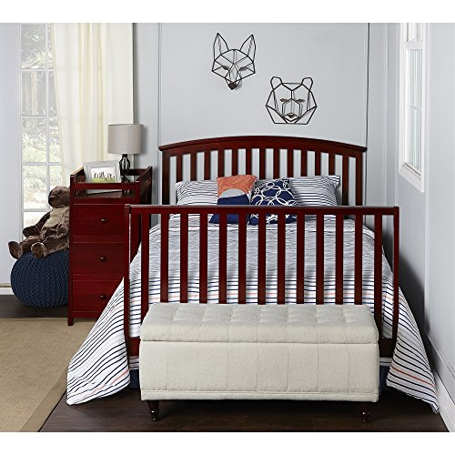 Dream On Me Niko 5-in-1 Convertible Crib with Changer, Cherry by Dream On Me (Image #4)
