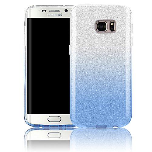 For Samsung Galaxy S7 Edge SM-G935F Case,Vandot Bling Shiny Glitter Cover Ultra Thin Slim Fit Soft TPU Silicone Hybrid Case [Shockproof] [Scratch-resistant] Pattern Protective Skin Shell -Gradient Blue