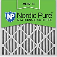 Nordic Pure 16x16x2M13-3 16x16x2 MERV 13 Pleated AC Furnace Air Filter, Box of 3, 2-Inch