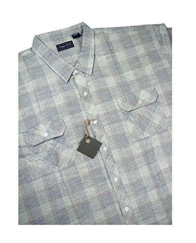 Smith Big Clothing (Indygo Smith 822-15 2-Pocket Flap Plaid NAVY 3XL-BIG)