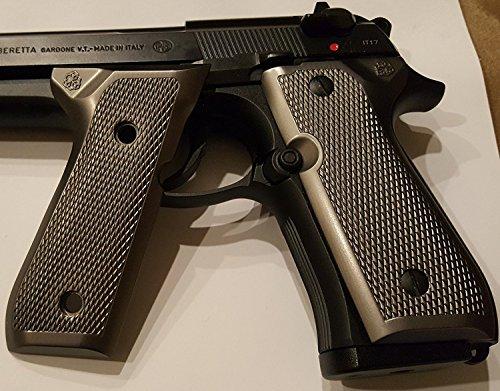 Limited Edition pewter grips Fit Beretta Grips 92 92F 92G FS 92SB 96 M992 M9 Grips Metal Black CHECKERED