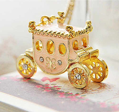 Lovely Pink Princess Halloween Pumpkin Carriage Pendant Necklace Girl's Dream (Adult Halloween Costumes Ideas 2016)
