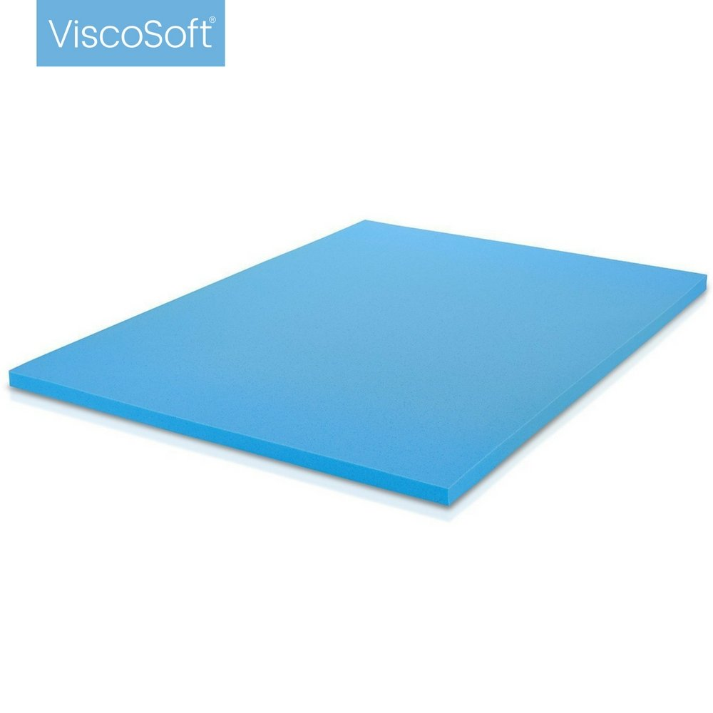 viscosoft 3 lbs density 2inch gel infused memory foam queen mattress