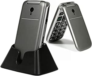 artfone 3G Unlocked Senior Flip Cell Phone,Senior Phone with Charging Dock for The Elderly, Unlocked Mobile Phone(Compatibility Nationwide on AT&T or Any Other Carrier That use AT&T Network)