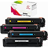 UniVirgin Compatible Toner Cartridge Combo Replacement for Canon 045H Toner High Yield for use in Canon Color imageCLASS MF632Cdw MF634Cdw LBP612Cdw LBP611Cn LBP613Cdw Printers(4-pack)