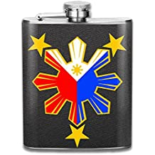 Portable 304 Stainless Steel Hip Flask, Flag Of The Philippines 7 Oz Pocket Flagon Hiking Wine Pot