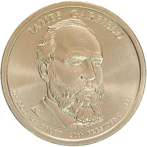 2011 P Presidential Dollar James Garfield Choice Brilliant Uncirculated