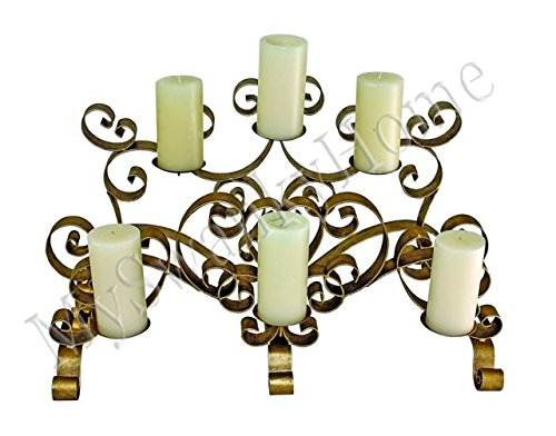 Bronze Scroll Fireplace Candelabrum For Sale