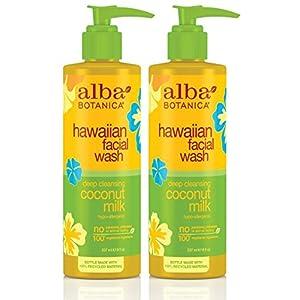 Alba Botanica Coconut Milk Facial Wash 8 oz (Pack of 2)