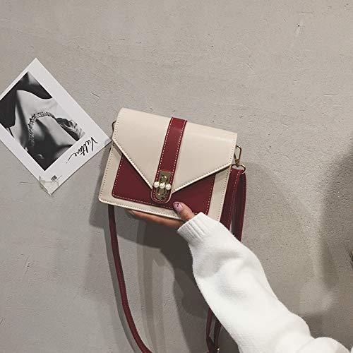 épaule Sac carré marée Sac à bandoulière Sauvage WSLMHH Fashion Femme Rouge nbsp;Petit w1YOqO