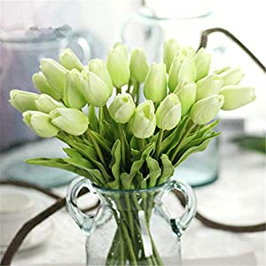 JONARO 10PC Tulips Artificial Flowers Real Touch PU Decor Bouquet Tulip for Home Wedding Decoration Flower 44