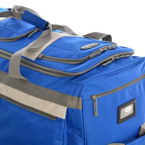 51R6gxaXPZL - Olympia 8 Pocket Rolling Duffel Bag, Royal Blue