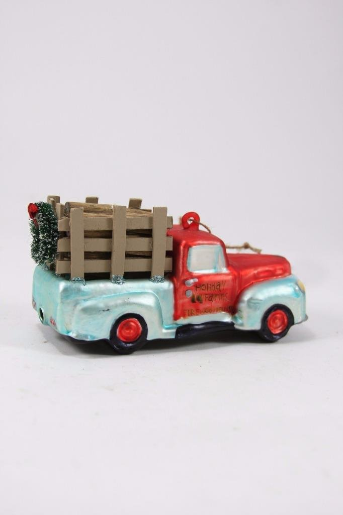 Cody Foster Christmas Village Holiday Old Farm Truck Ornament Figure