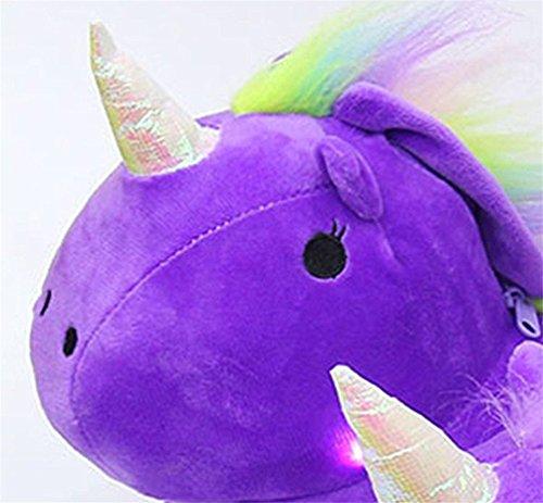 Purple Slippers Chausson Pantoufle Cartoon en Licorne Femme Lumineux Unisex Adulte Unicorn Hiver Souple Peluche WqwfZ0Oqr