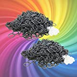 Energi8_blu 1200 Rubber Silver Bands for Rainbow Loom Refill +50 Clips +Free SH