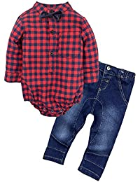 Baby Boys' 2 Piece Shirt Pants Clothing Set with Bowtie G24