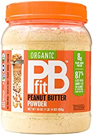 PBfit All-Natural Organic Peanut Butter Powder, Powdered Peanut Spread from Real Roasted Pressed Peanuts, 8g o