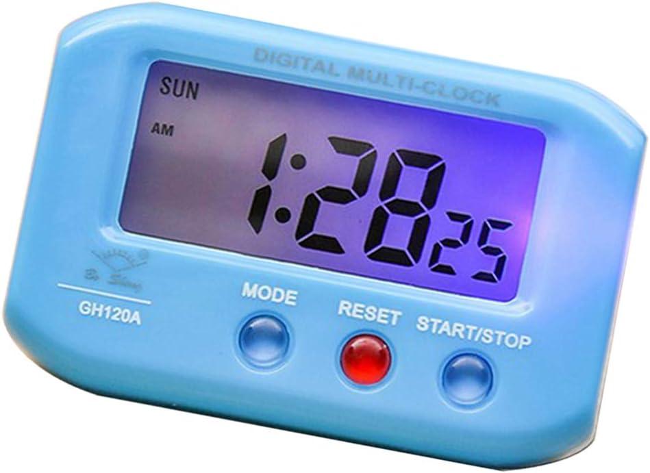 Mini Batterie Autouhr Miniuhr Digitaluhr Tischuhr f/ür Auto Zuhause Reise Blau