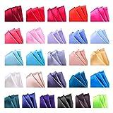 26 Pack Men's Silk Pocket Square Handkerchief Hanky Wedding Party Gift ciciTree