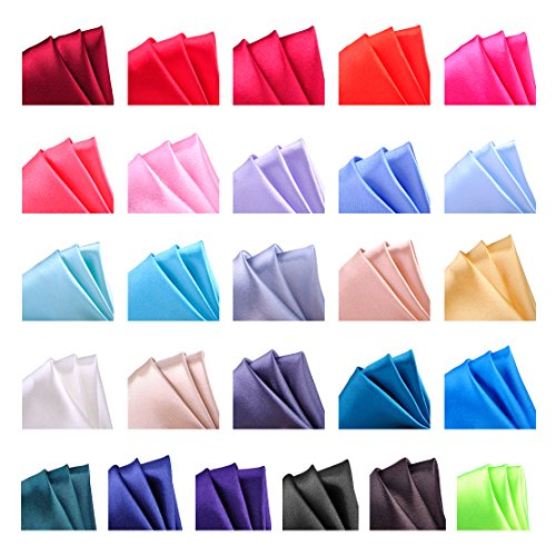 26 Pack Men's Silk Pocket Square Handkerchief Hanky Wedding Party Gift ciciTree (Pocket Handkerchief Suit)