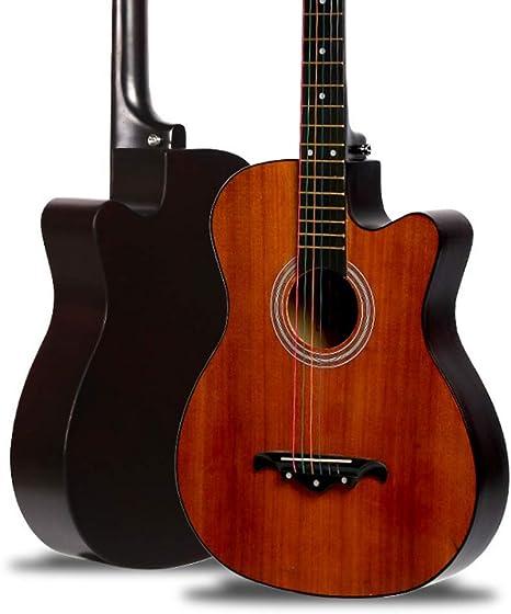 Boll-ATur Guitarra acústica de madera maciza hecha a mano de 38 ...