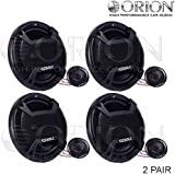 "Two Pair for ORION CAR AUDIO CTK-655 6.5"" Component Set CAR Speakers"