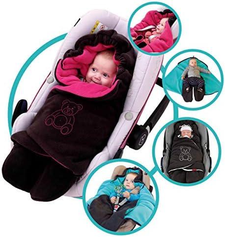 ByBoom Baby Manta arrullo de invierno para bebé, es ideal para sillas de coche (p.ej. de las marcas Maxi-Cosi y Römer), para cochecitos de bebé, sillas de paseo o cunas; LA MANTA