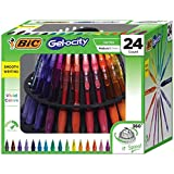BIC Gel-ocity Original Retractable Gel Pen Spinner, Assorted Colors, 24-Count