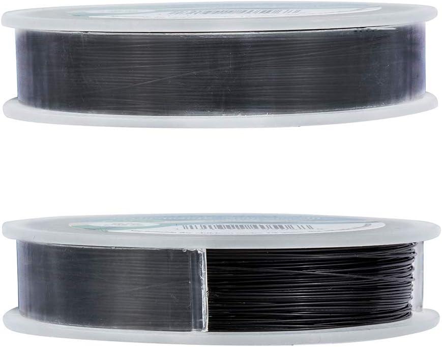 Negro Cable Met/álico Trenzado por 7 Hilos Accesorios de Manualidad para Dise/ño de Bisuter/ía BENECREAT 50m 0.45mm Alambre de Acero Inoxidable