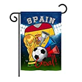 Ornament Collection G192113 World Cup Spain Soccer Interests Sports Decorative Vertical Garden Flag, 13'' x 18.5'', Multicolor
