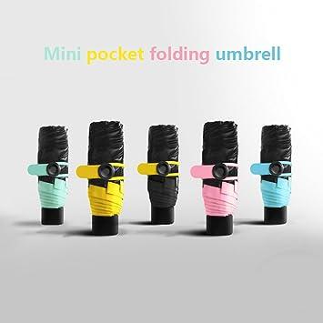 Paraguas de bolsillo, tamaño mini de 17 cm, muy ligero, de