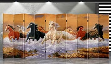 Chinese Calligraphy Double Sided Canvas Screen Room Divider