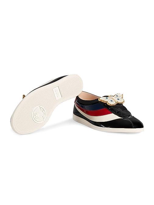 Gucci Mujer 4936870B9101082 Negro Cuero Zapatos: Amazon.es: Zapatos y complementos