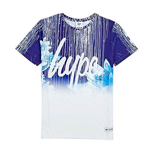 Hype T-Shirt Floral Drips, Größe XL, blau