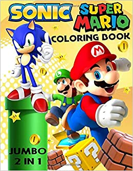 Sonic And Super Mario Jumbo Coloring Book Mira Book 9781725199255