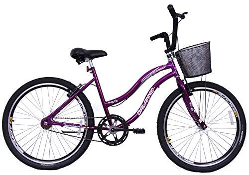 Bicicleta Feminina Aro 26 Beach Violeta