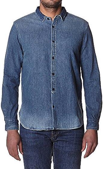 Levis Made And Crafted - Camisa casual - para hombre multicolor dark indigo flat finish Small: Amazon.es: Ropa y accesorios