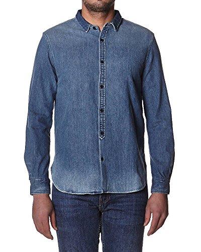 Levis Made and Crafted - Camisa Casual - para Hombre Dark Indigo ...