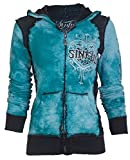 Sinful AFFLICTION Women Hoodie Sweat Shirt Jacket BLITZKRIEG Wings Biker UFC (X-Large)